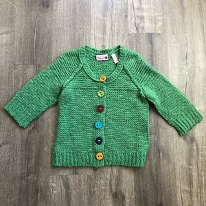 Anthro Hand Knit by Dollie Green Knit Cardigan S